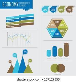 Economy Info graphics, Vector illustration