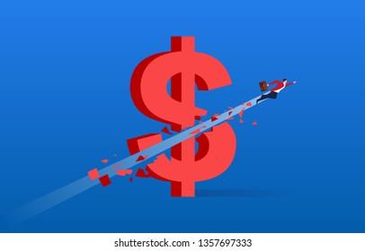 The economy is sluggish, the flying businessman destroyed the dollar