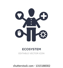 ecosystem icon on white background. Simple element illustration from People concept. ecosystem icon symbol design.