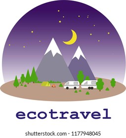 Ecotourism, traveling in a motor home, adventure