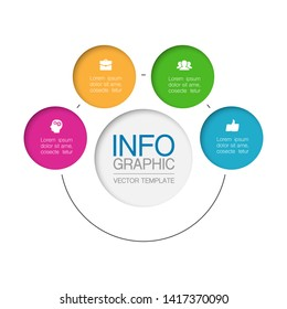 ector infographic circular  diagram, template for business, presentations, web design, 4 options.