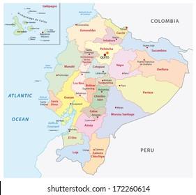 ecuador administrative map