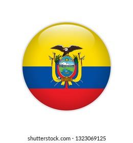 Ecuador flag on button