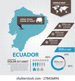 ecuador map infographic