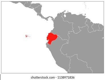Ecuador map on gray base