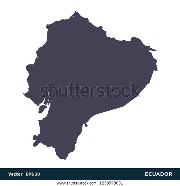 Ecuador South America Countries Map Icon Stock Vector ...
