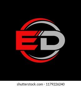 ED initial letters elegant logo, Modern Logo Design