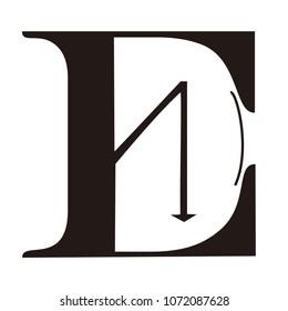 ed letter vector logo