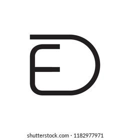 ED logo letter design