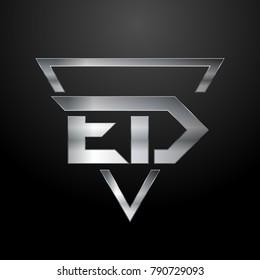ED Logo, Monogram, Metal