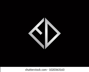 ED square shape silver color logo