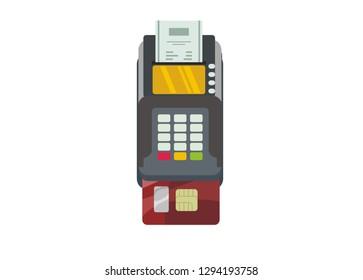 EDC machine with bottom card slot, simple illustration