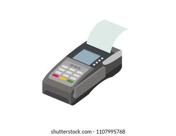 EDC machine simple isometric illustration