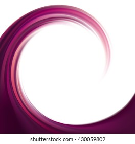 Eddy volute fond. Fluid mixed dark plum color curvy ripple surface with space for text in glowing white center. Appetizing yummy juicy vinous fruits: grape, blackcurrant, mulberry, cherry, bilberry