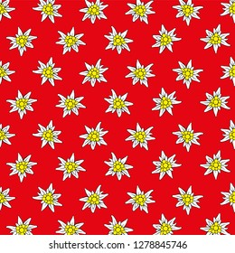 Edelweiss background red