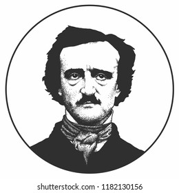 Edgar Allan Poe, an American writer, editor, and literary critic Moscow, Russia, 09/16/2018