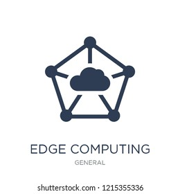 edge computing icon. Trendy flat vector edge computing icon on white background from general collection, vector illustration can be use for web and mobile, eps10
