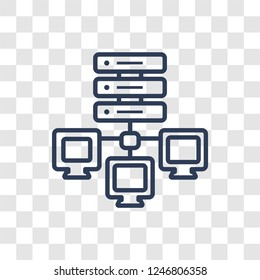edge computing icon. Trendy linear edge computing logo concept on transparent background from General  collection