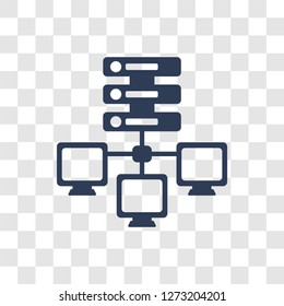 edge computing icon. Trendy edge computing logo concept on transparent background from General collection