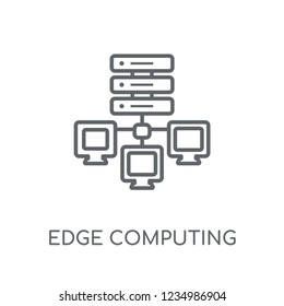 edge computing linear icon. Modern outline edge computing logo concept on white background from General collection. Suitable for use on web apps, mobile apps and print media.
