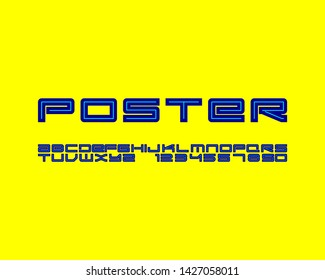 Edgy font set design in vector format