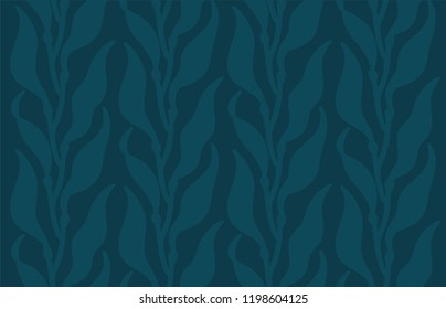 Edible kelp algae seamless vector illustration pattern background seafood ocean weed Japanese cuisine