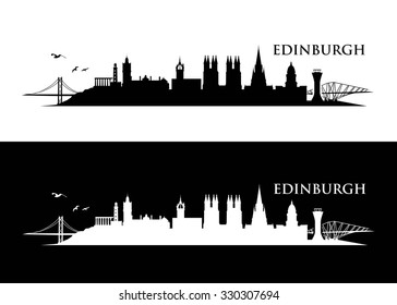 Edinburgh skyline - vector illustration