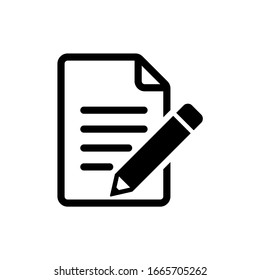 Edit file icon, sign up Icon vector illustration