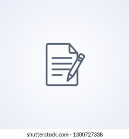 Edit file, vector best gray line icon on white background, EPS 10