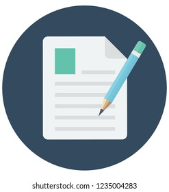 Edit File Vector Icon that can be easily edit or modified