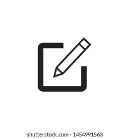 Edit icon, Pencil icon, sign up Icon vector. symbol for web site Computer and mobile vector.
