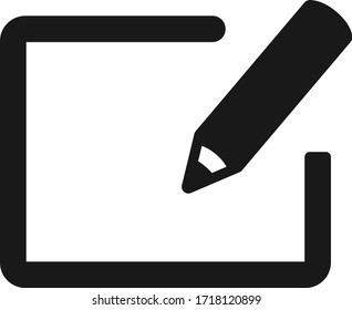 Edit icon, register icon, registration icon vector