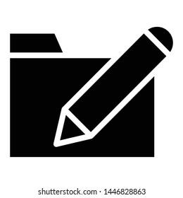 Edit Icon, Vector Illustration,User Interface Glyph