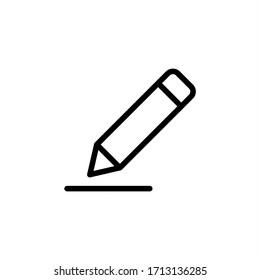 Edit icon vector. Pencil, Write icon symbol illustration