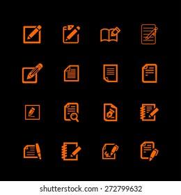 edit icons