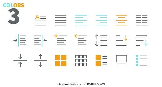 Edit text Pixel Perfect Well-crafted Vector Thin Line Icons 48x48 Ready for 24x24 Grid for Web Graphics and Apps. Simple Minimal Pictogram Part 1-4