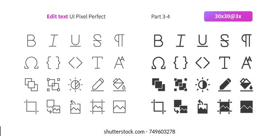 Edit text UI Pixel Perfect Well-crafted Vector Thin Line And Solid Icons 30 3x Grid for Web Graphics and Apps. Simple Minimal Pictogram Part 3-4