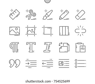 Edit Text Well-crafted Pixel Perfect Vector Thin Line Icons 30 2x Grid for Web Graphics and Apps. Simple Minimal Pictogram