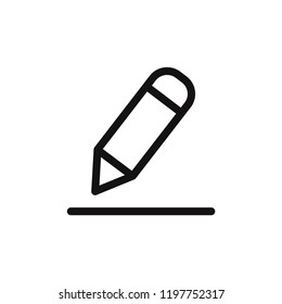 Edit vector icon. Pencil,write symbol. Flat vector sign isolated on white background. Simple vector illustration for graphic and web design.