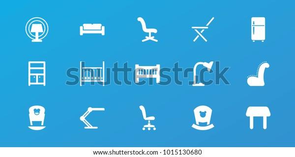 Strange Editable 15 Furniture Icons Sofa Baby Stock Vector Royalty Machost Co Dining Chair Design Ideas Machostcouk