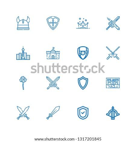 Editable 16 medieval icons
