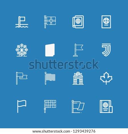 Editable 16 nation icons