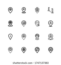 Editable 16 placeholder icons for web and mobile. Set of placeholder included icons line Placeholder on white background