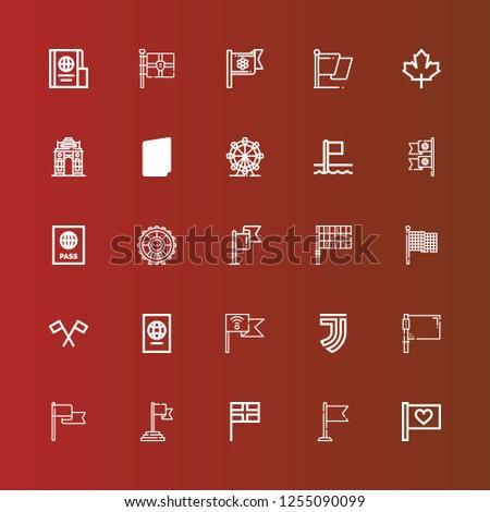 Editable 25 nation icons