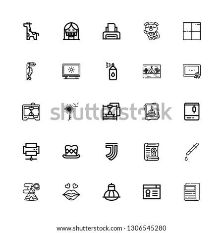 Editable 25 print icons