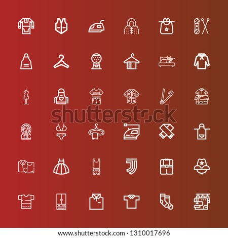 Editable 36 clothes icons
