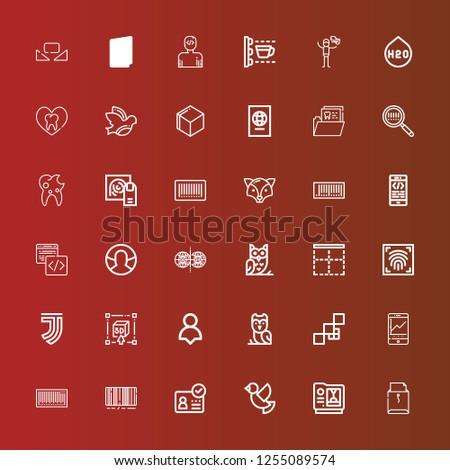 Editable 36 identity icons