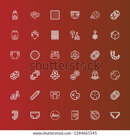 Editable 36 realistic icons