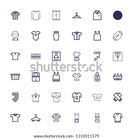 Editable 36 shirt icons