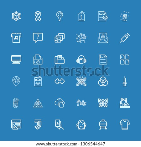 Editable 36 template icons